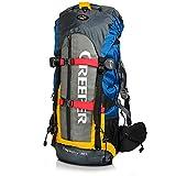 Creeper Zaino Impermeabile 60 litri, Zaino Viaggio Trekking Unisex adulto per Bici Escursionismo Alpinismo Arrampicata Campeggio...
