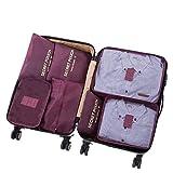 7 Set Sistema di Cubo di Viaggio - 3 Cubi di Imballaggio + 3 Sacchetti Borsa+ 1 Borsa portascarpe - Perfetto di Viaggio Dei...