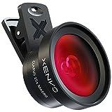 Xenvo - Kit obiettivo Pro per iPhone, Samsung, Pixel, Macro e obiettivo grandangolare con luce LED e custodia da viaggio
